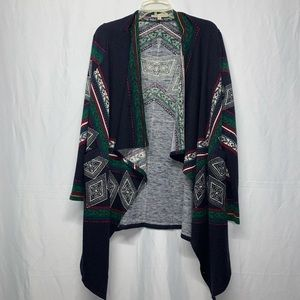 Young Threads  navy blue open cardigan Size M